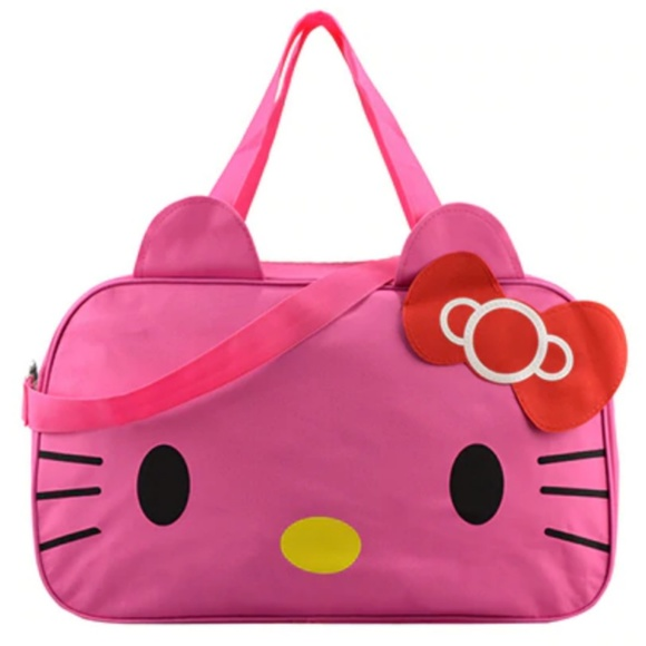 7cef0e32289f Hello Kitty Large Hot Pink Duffle Travel Gym Bag